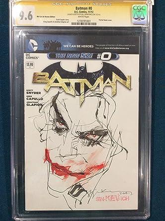 bill sienkiewicz original sketch art cgc 96 signed joker batman heath ledger