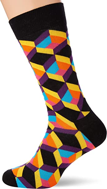 negozio outlet comprare popolare sfumature di Happy Socks Men's Optiq Square Sock, Multicolour (Multicolour 935 ...