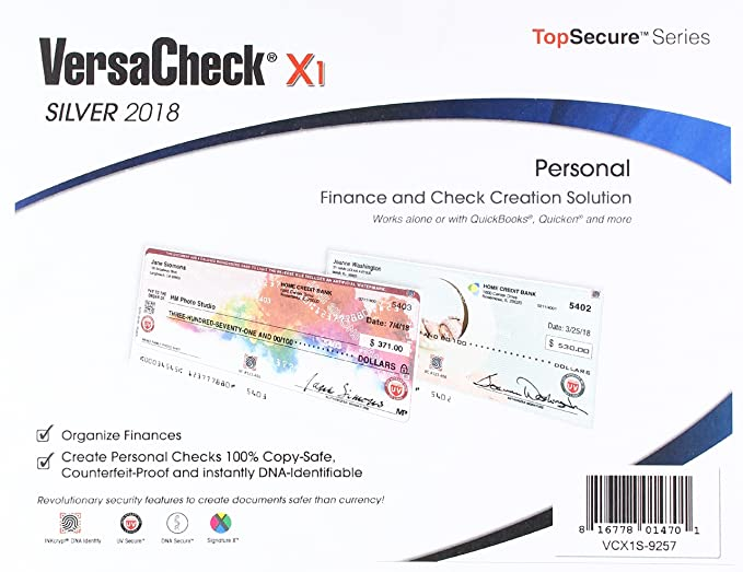 Amazon versacheck x1 silver 2018 finance check creation versacheck x1 silver 2018 finance check creation software freerunsca Choice Image