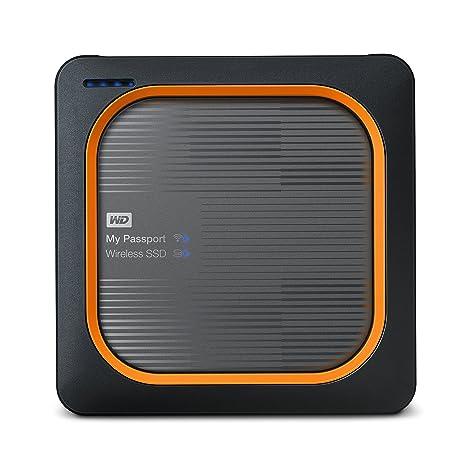 WD 1TB My Passport Wireless SSD External Portable Drive, WiFi USB 3.0, Up to 390 MB/s - WDBAMJ0010BGY-NESN