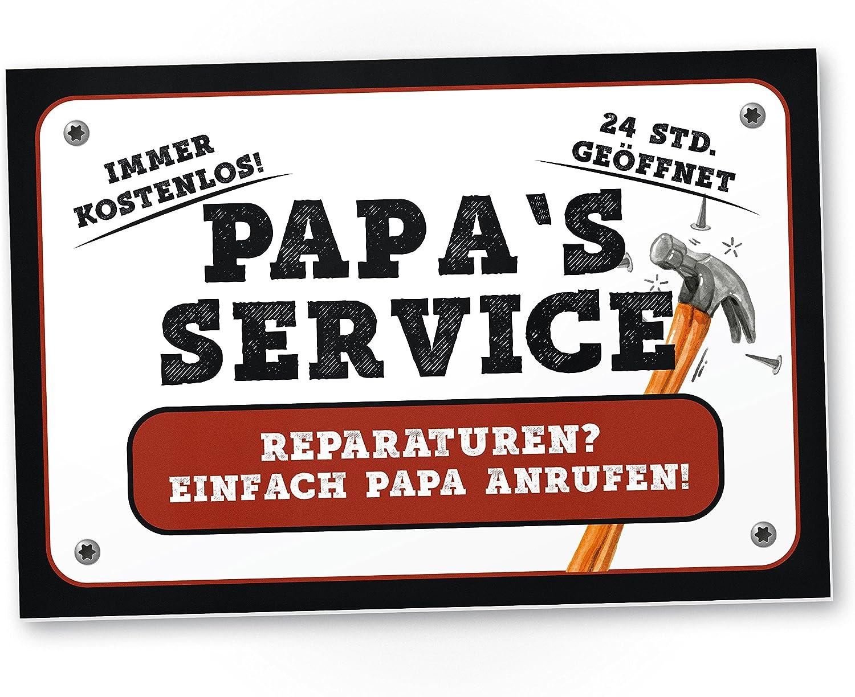 Einfach Papa rufen Service Reparaturen Zollstock mit Spruch Papa/´s 24 Std