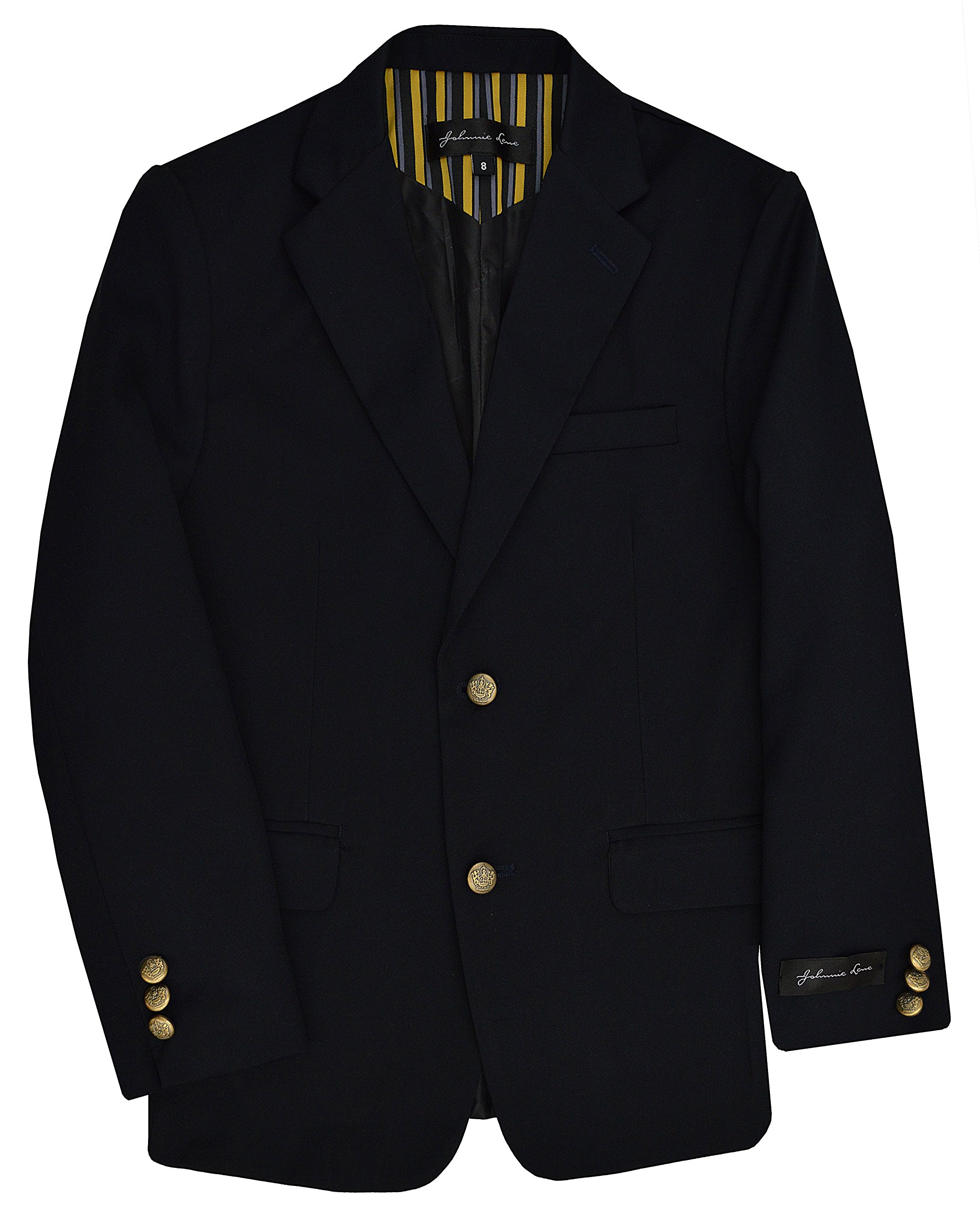 Dress Up Boys' Navy Blazer Jacket #JL30 (18, Navy Blue)