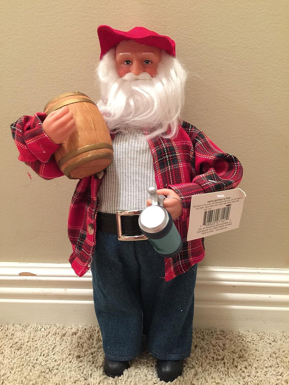 B00A8N33XK Santa Claus Table Figurine with Beer Mug and Barrel 91yt2BcQ5BuL