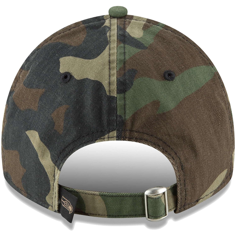 0051310dedb980 Amazon.com : Seattle Seahawks New Era Woodland Camo Core Classic 9TWENTY  Adjustable Hat : Sports & Outdoors