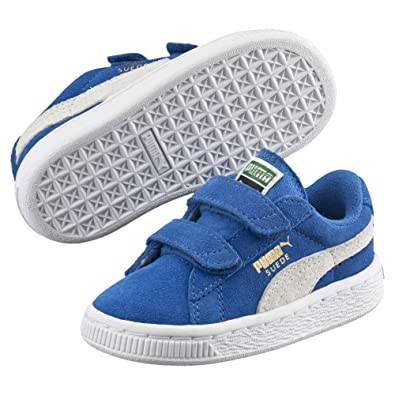 Puma Classic Strap Baskets enfant à scratch Blanc Da Shoes