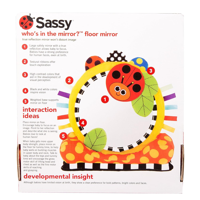 Sassy Soft Floor Mirror, Yellow, Orange, Red, Green, Black: Amazon ...