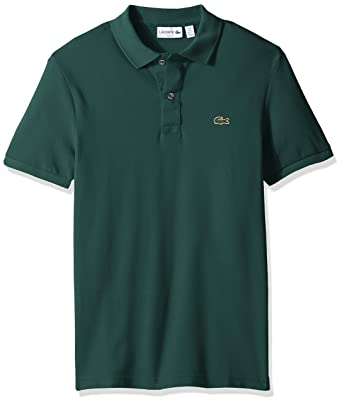 5ab408d11c0c Lacoste Men s Classic Pique Slim Fit Short Sleeve Polo Shirt