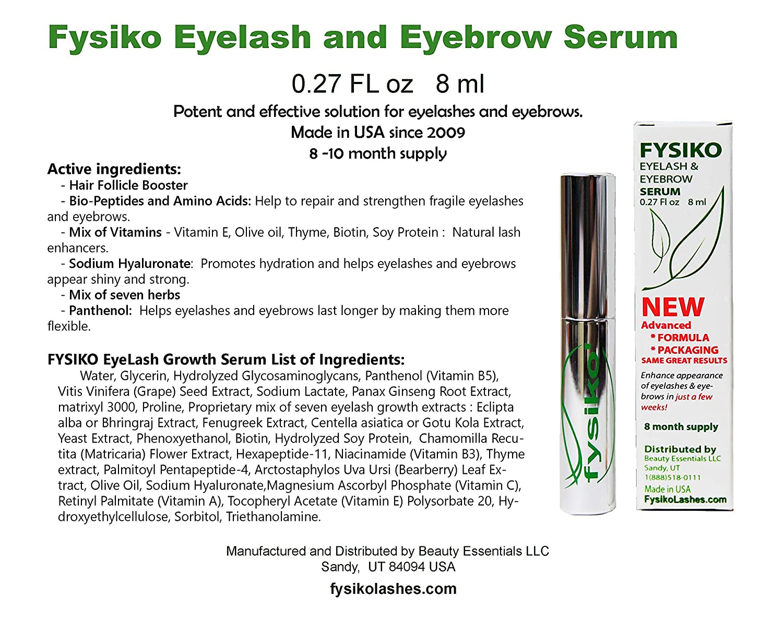 90cea1c2f22 Amazon.com: Fysiko Eyelash Growth Serum: Beauty
