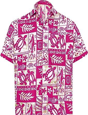 LA LEELA Casual Hawaiana Camisa para Hombre Señores Manga Corta Bolsillo Delantero Surf Palmeras Caballeros Playa Aloha 4XL-(in cms):162-167 Ghosts Blanco_W127: Amazon.es: Ropa y accesorios