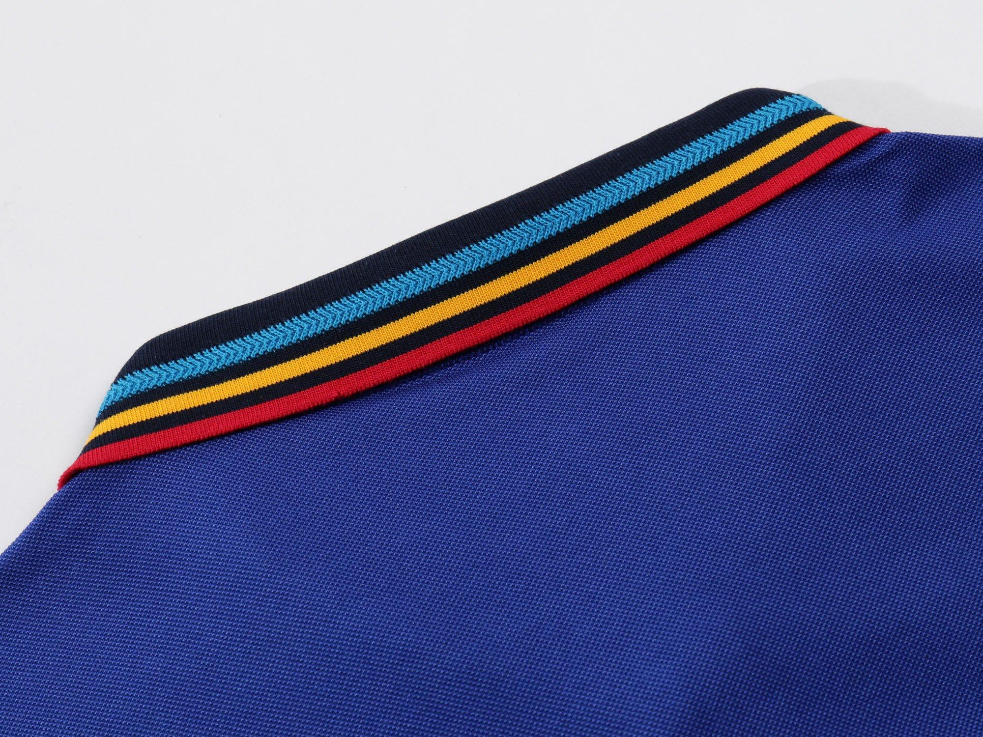 Mitario Femiego Women Classic Rainbow Collar Slim Fit Short Golf Polo Shirt Wine Red S by Mitario Femiego (Image #4)