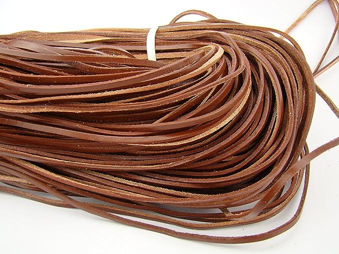 1 m marr/ón Longitud//Color: A Elegir. Piel cuerda redondo 5/mm