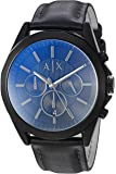 Armani Exchange Men's Black Leather Watch AX2613