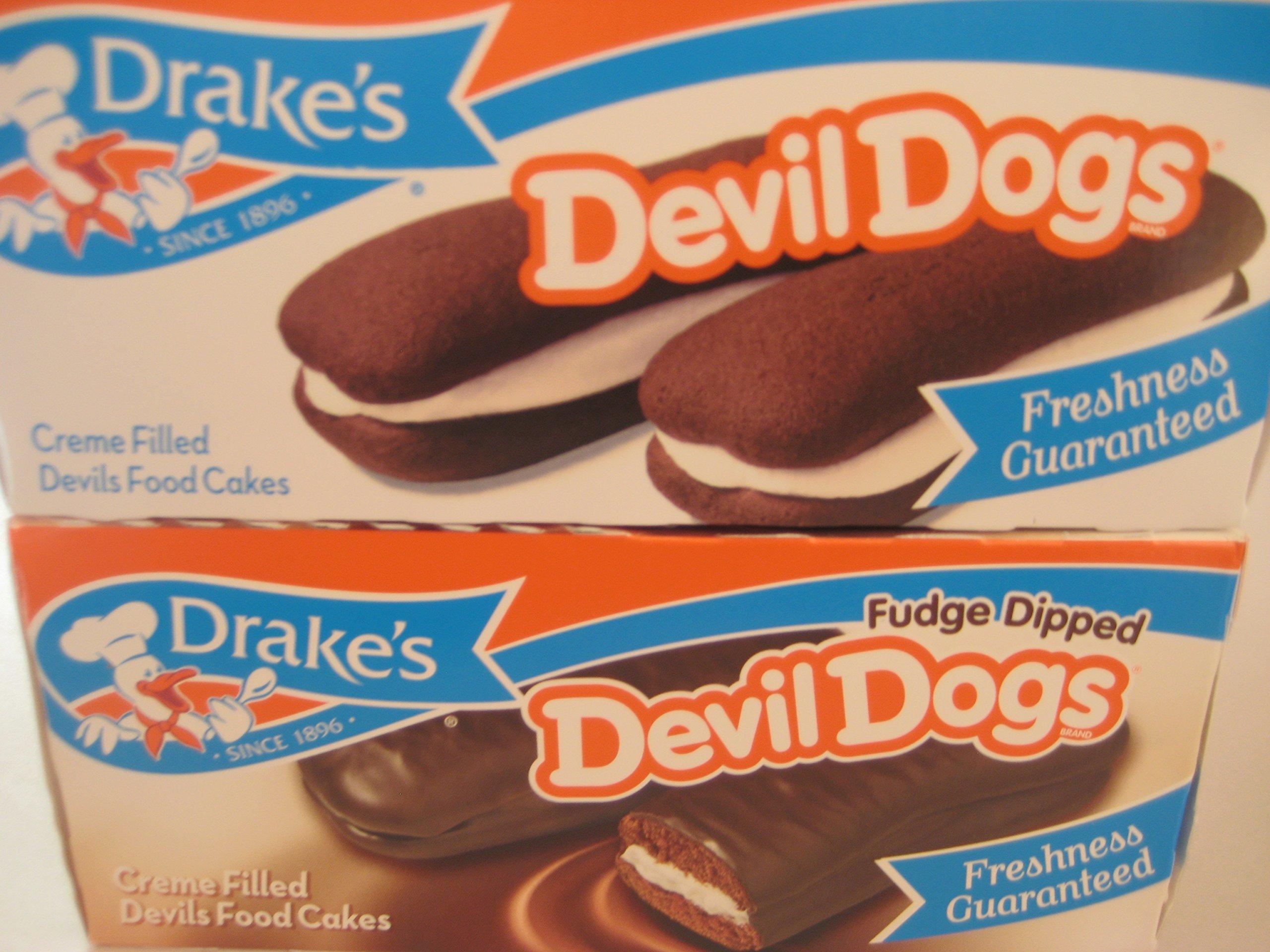 Drake's Fudge Dipped Devil Dogs & Drakes Devil Dogs Combo Bundle. by Drake's