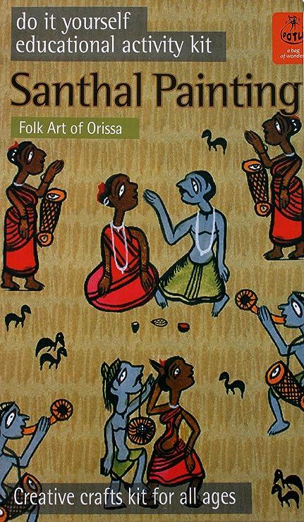 Buy potli diy indian art kit santhal painting multi color online at potli diy indian art kit santhal painting multi color solutioingenieria Image collections