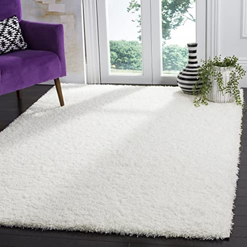 Safavieh Laguna Shag Collection SGL303W White Area Rug 8 x 10
