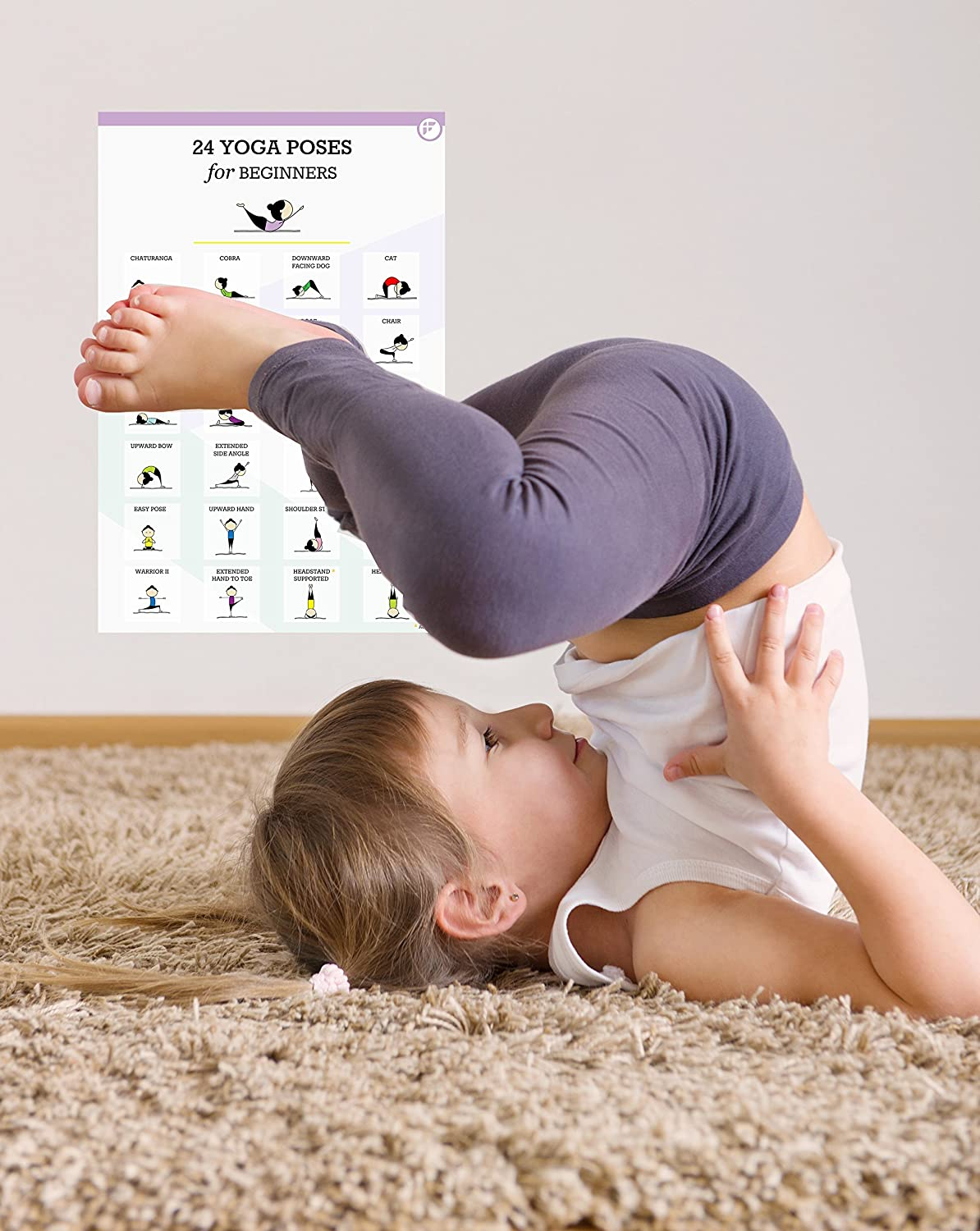 Fitwirr 48 Yoga Poses for Beginners - Yoga Kids (Laminated Poster) - Kids  Yoga Poses - Yoga Children - Yoga for Kids -Yoga Wall Arts - Yoga Poster