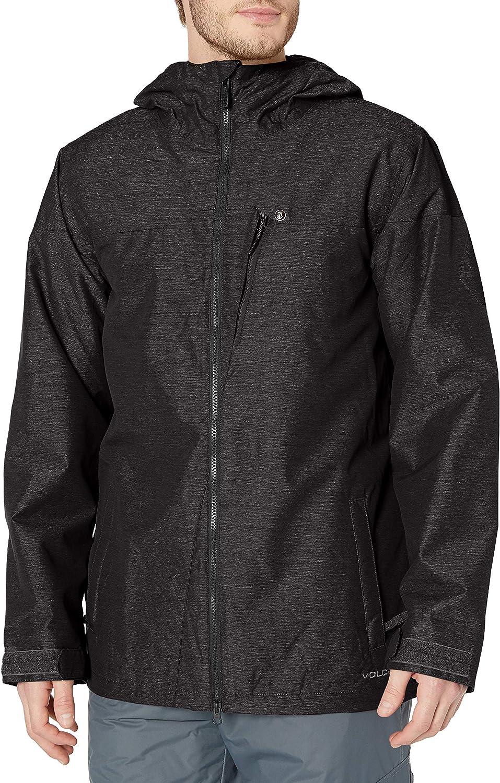 Volcom Men's Prospect Insulated Jacket, Black, M: Clothing