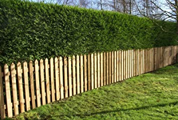 garden fencing. Pointed Top Picket Pales - Treated Garden Fencing 3ft (900mm) High (20) N