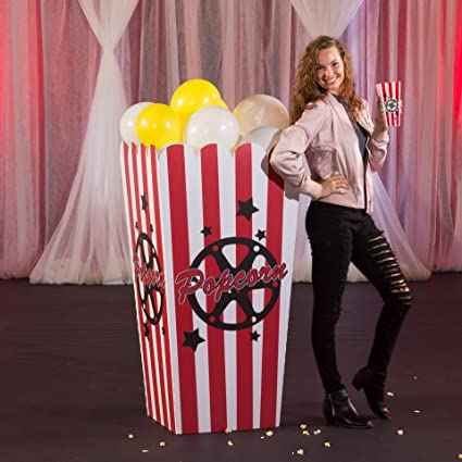 Hollywood Movie Star Giant Movie Popcorn Party Prop Standup Photo Booth  Prop Background Backdrop Party Decoration Decor Scene Setter Cardboard  Cutout