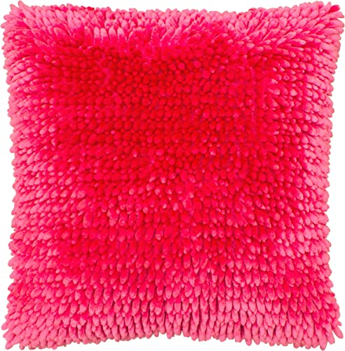 Dolce Home Butter Chenille Decorative Pillow, 18 X 18 , Rose Pink