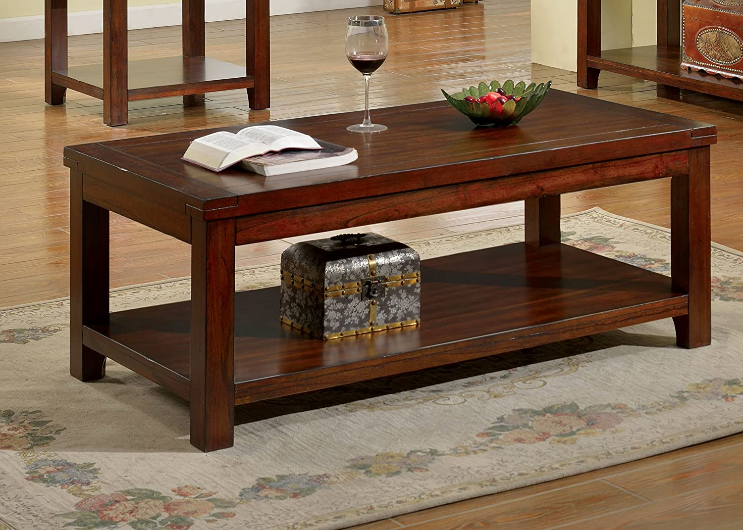 Furniture of America IDF-4107C Coffee Table, Dark Cherry