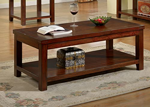 Furniture of America Coffee table, Dark Cherry
