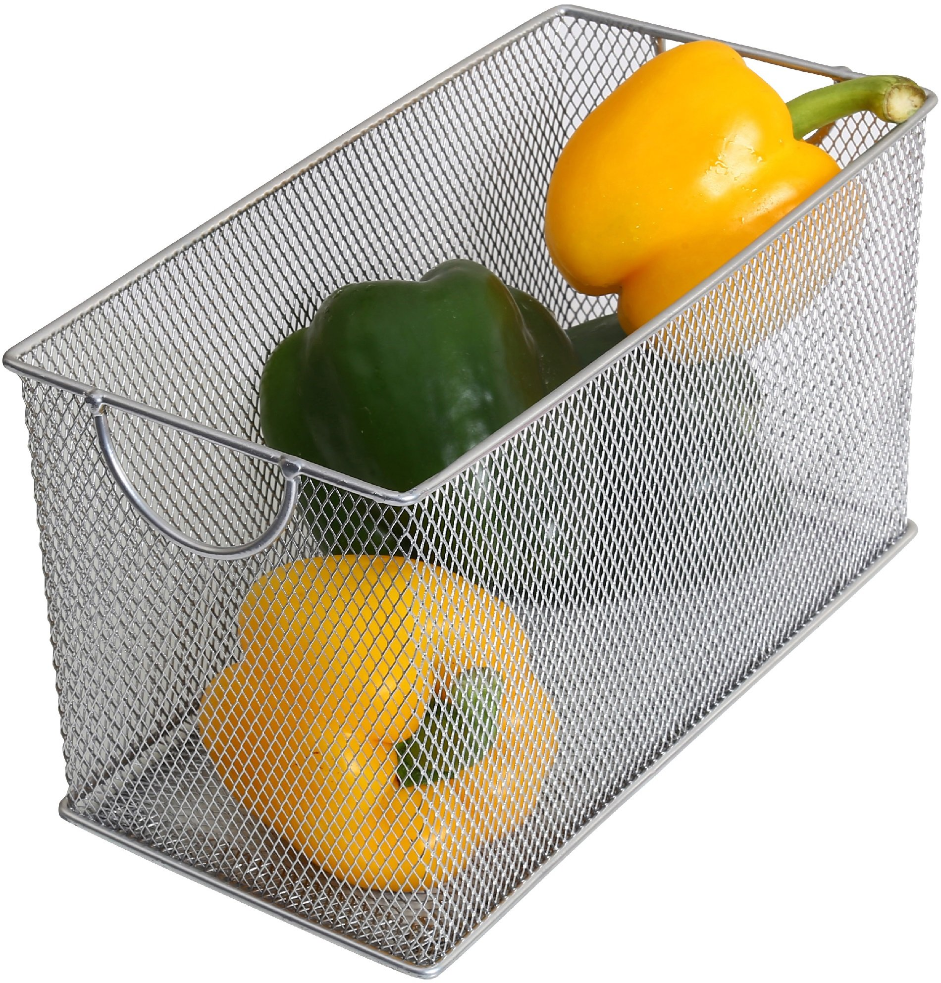 Ybm Home Mesh Storage Box, Silver Mesh Great for School Home or Office Supplies, Books , Computer Discs and More 2302 (1, Zip Box- 8 X 4.5 X 4.8 Inches)