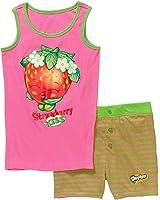 Intimo Big Girls' Shopkins Strawberry Kiss Tank Short