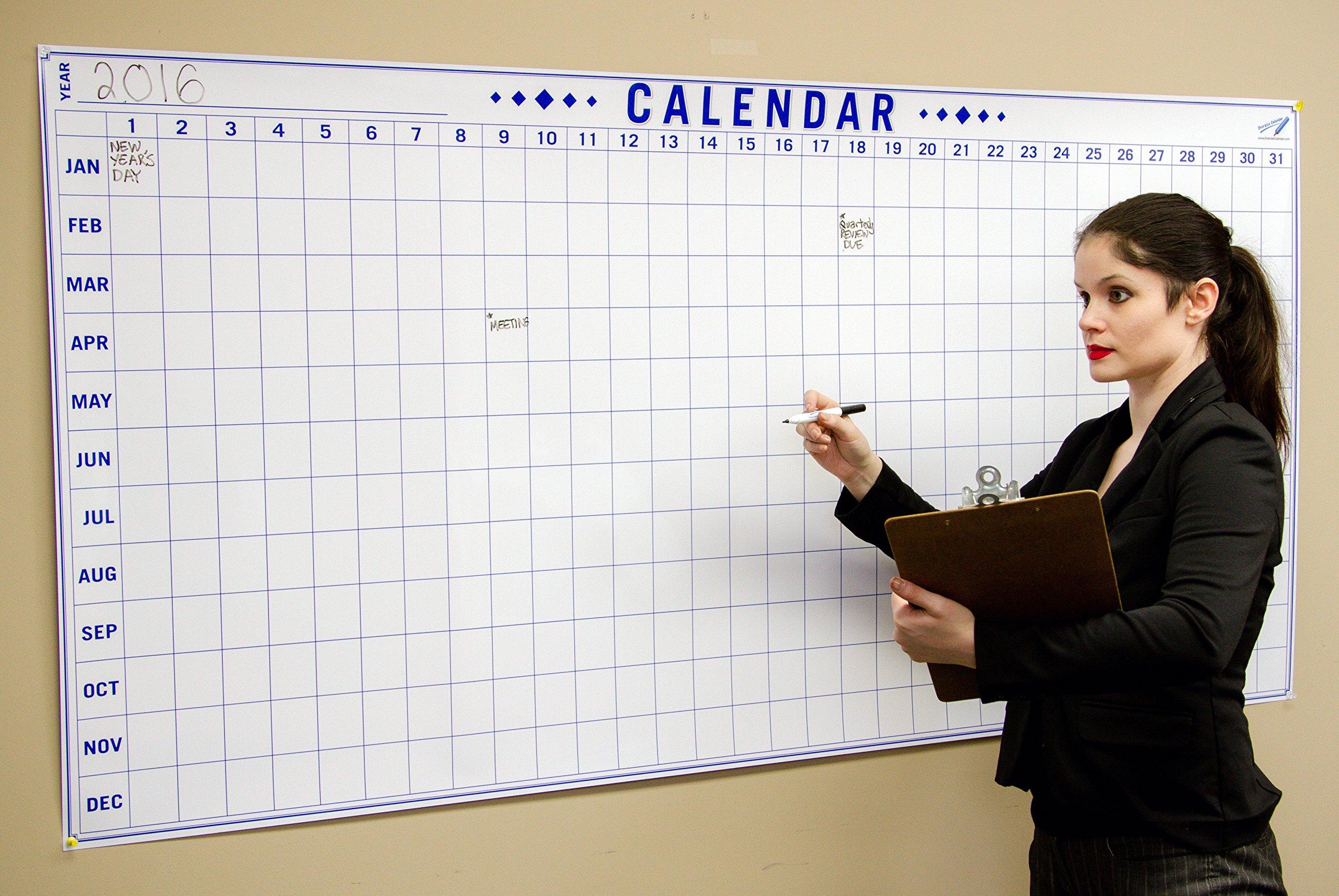 Dry Erase Julian Date Calendar - 36 x 72 Large Dry Erase Wall Calendar - Large Wall Calendar - Reusable Annual Calendar - Wall Planner with Vertical Dates and Horizontal Months by Oversize Planner by ABI Digital Solutions (Image #2)