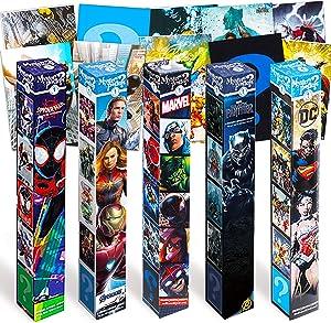 Marvel Comics DC Comics Superhero Wall Poster Bundle Set - 10 Pc DC Comics Marvel Comics Mystery Posters Featuring Marvel Avengers, Justice League, and More (Superhero Room Decorations)
