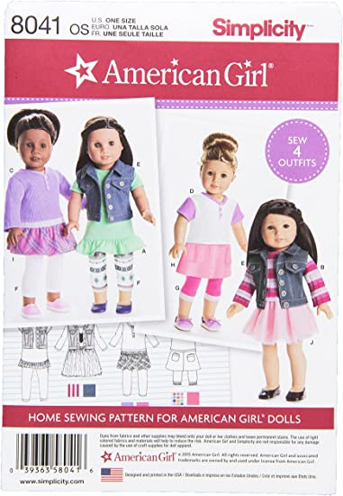 """Simplicity It/'s So Easy #A1274 Doll Clothes For 18/"""" Doll// Uncut// Sewing Pattern"""