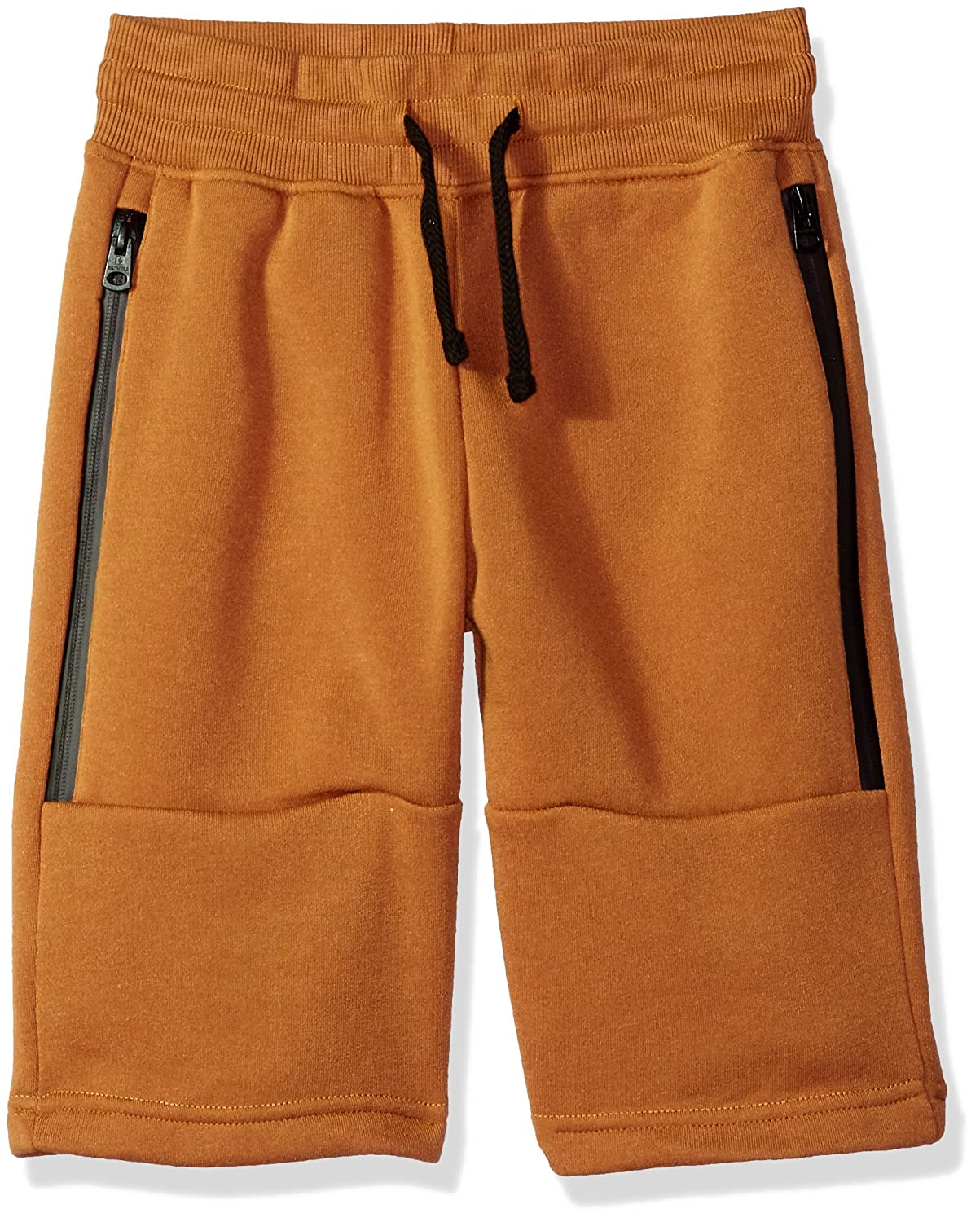 Southpole Big Boys Jogger Shorts in Basic Solid Colors and Fleece Fabric,