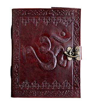 pranjals house Vintage Hunter Leather Handmade Paper Notebook Diary  7x5 Inch   Amber Brown  Diaries