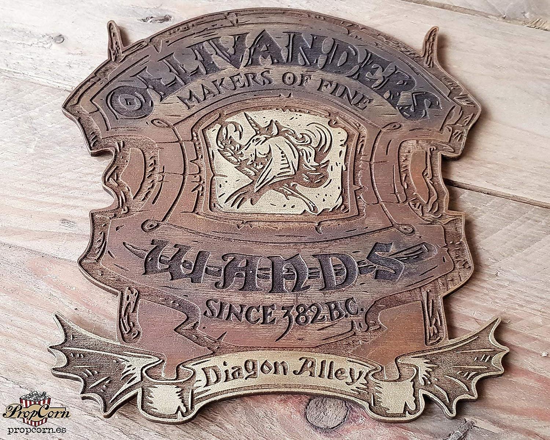 Cartel Harry Potter Ollivanders tienda de Varitas, hecho en ...