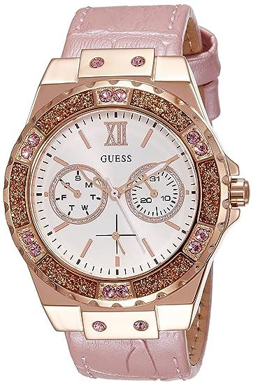 Guess Reloj analogico para Mujer de Cuarzo con Correa en Tela W0775L3: Amazon.es: Relojes