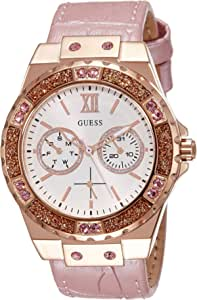 Guess Women's White Dial Synthetic Band Watch - W0775L3