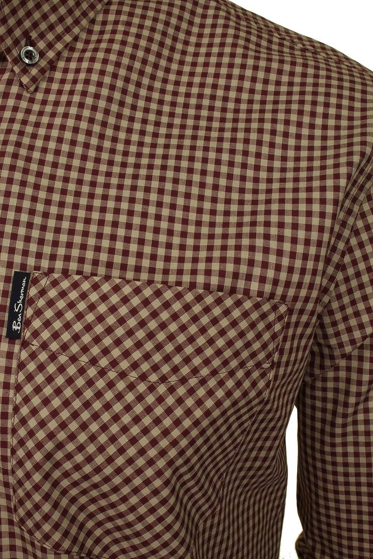 Ben Sherman - Camisa de cuadros de manga larga para hombre: Amazon.es: Ropa y accesorios