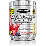 MuscleTech MyoBuild 4X Amino BCAA, Fruit Punch, 332 grams