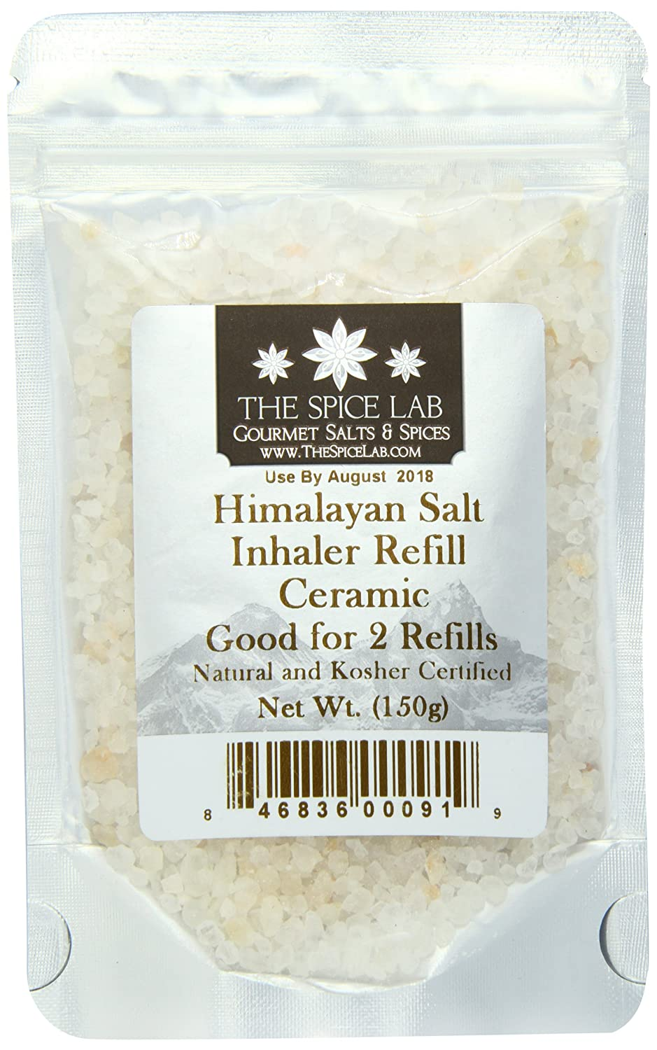 amazoncom the spice lab himalayan salt inhaler refill for ceramic inhaler health and mineral fortified 150 grams sea salts grocery u0026 gourmet