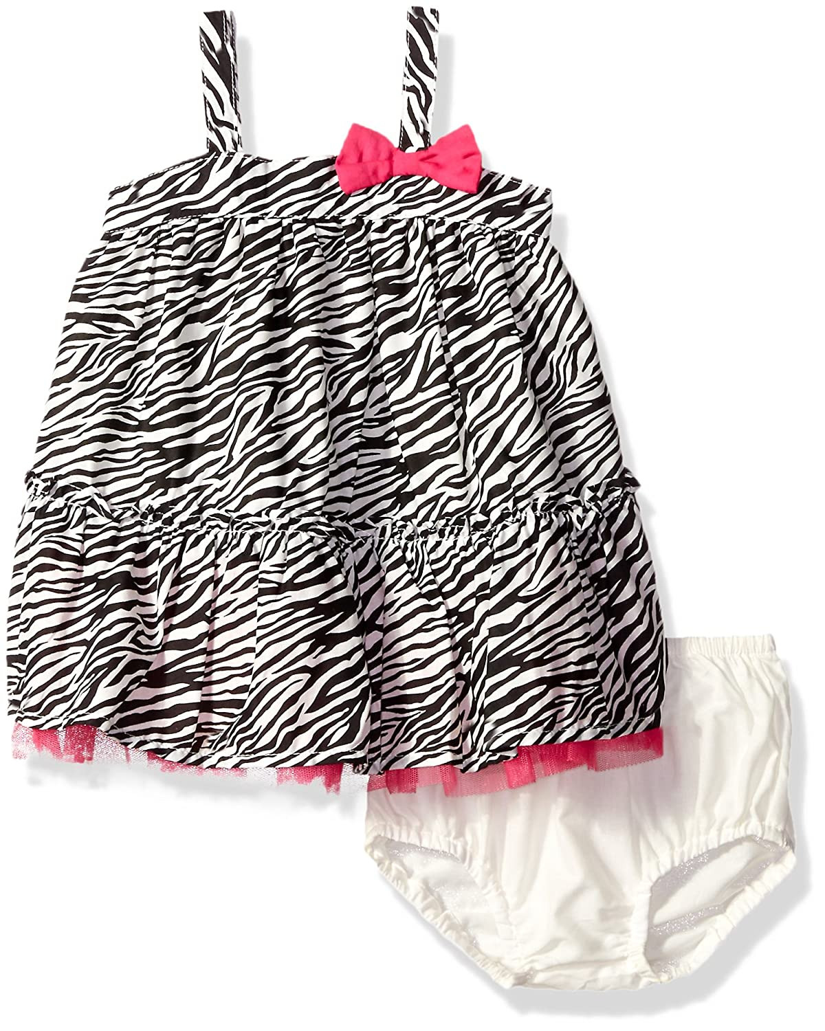 340a6c1383d54 The Children's Place Girls' Zebra Dress, Snow, 9-12 Months: Amazon.in:  Clothing & Accessories
