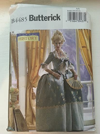White 4-6-8-10-12 D5 Paper Simplicity 8578Simplicity Pattern 8578 Women/'s 18th Century Gown