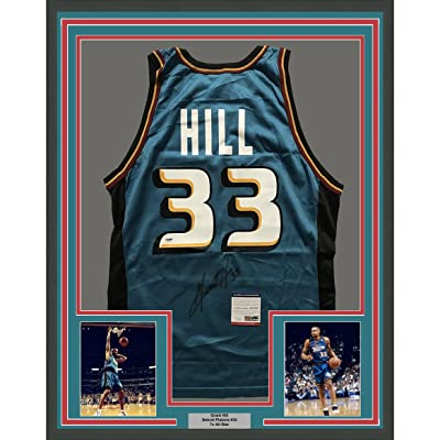 huge discount 4f1c3 6e162 Framed Autographed/Signed Grant Hill 33x42 Detroit Pistons ...