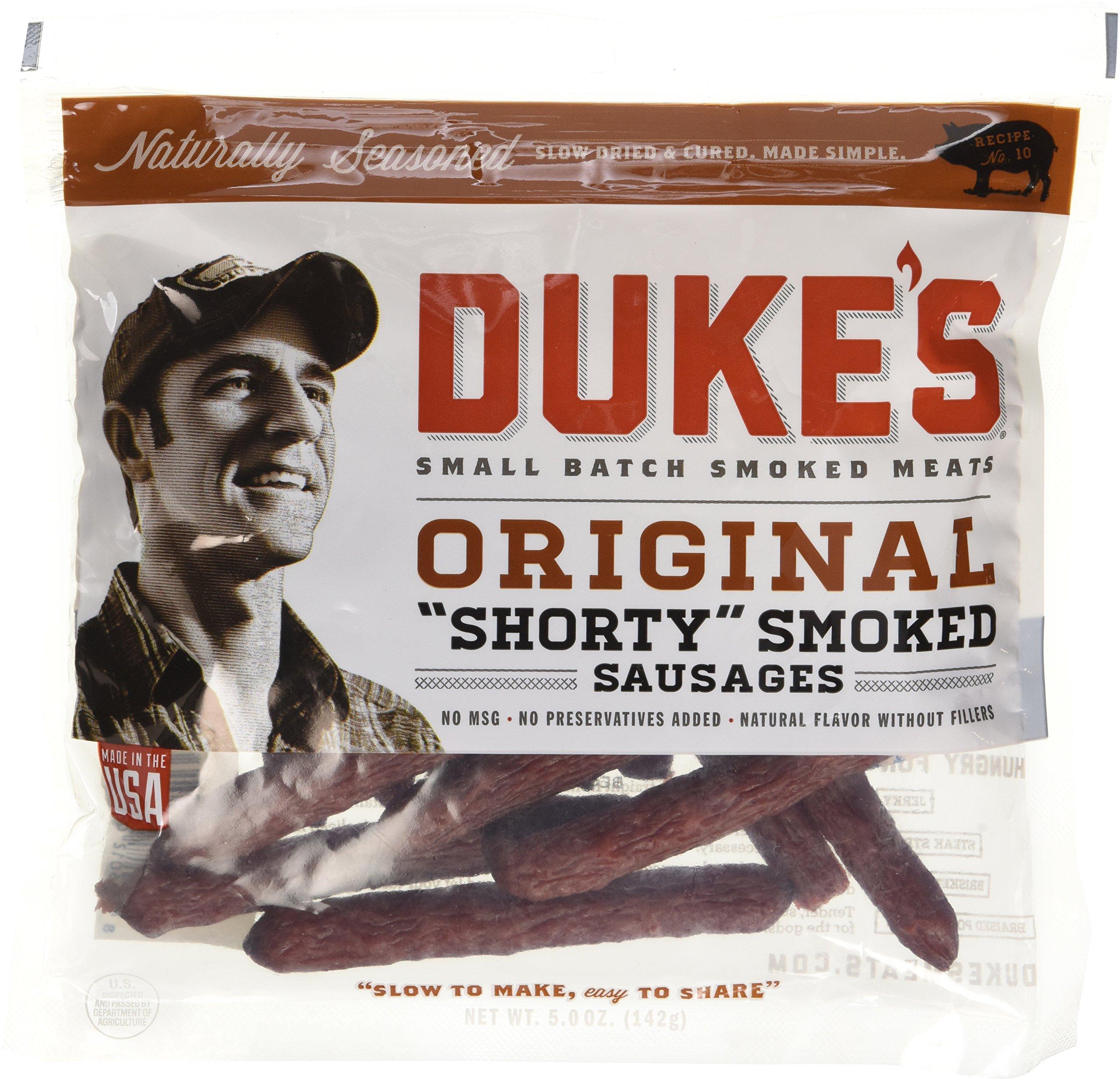 "Duke's Original ""Shorty"" Smoked Sausage, Jerky 5 oz (Pack of 4) - Packaging May Vary"