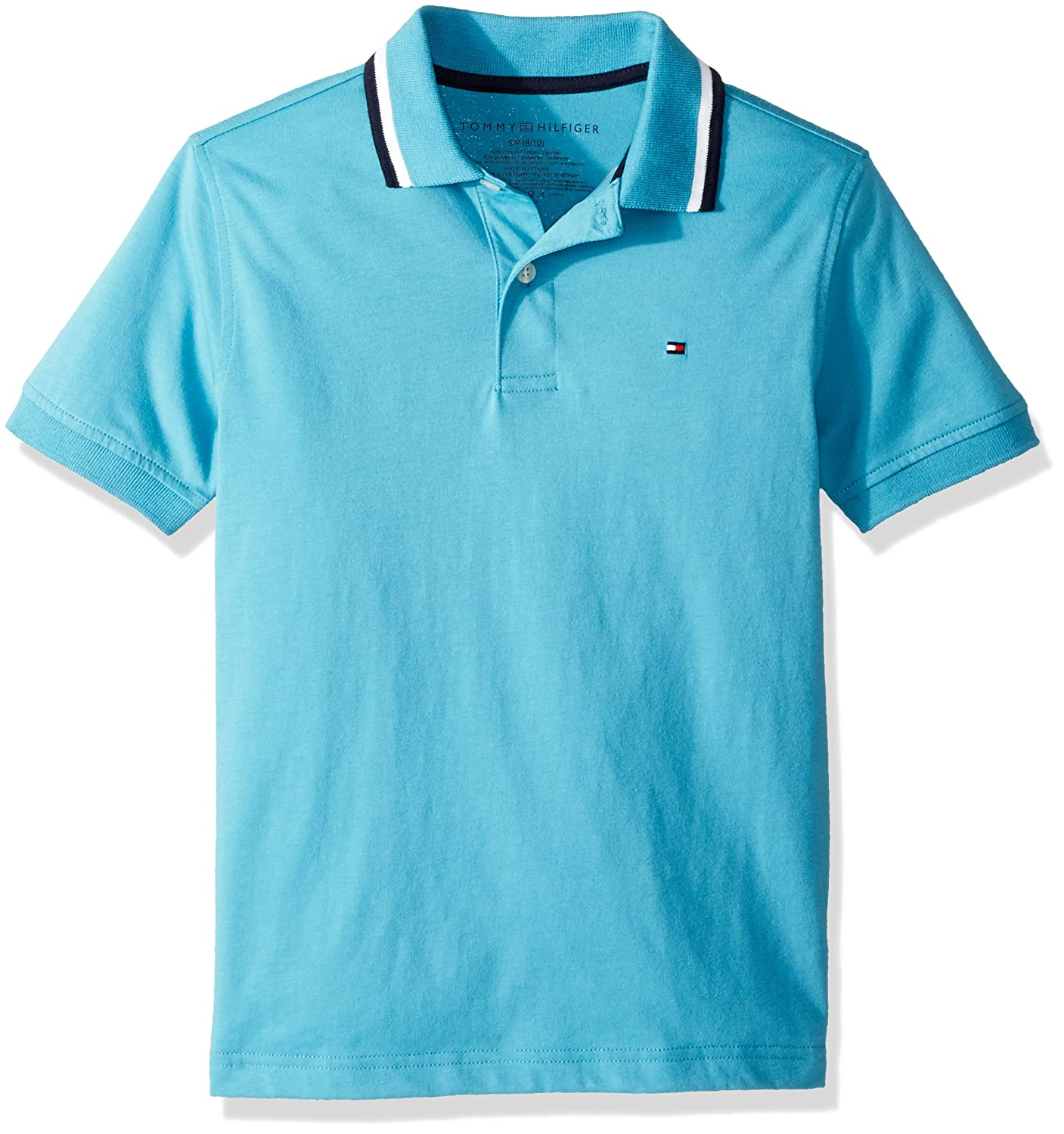 Tommy+Hilfiger Tommy Hilfiger Boys Short Sleeve Performance Polo with Tipped Collar