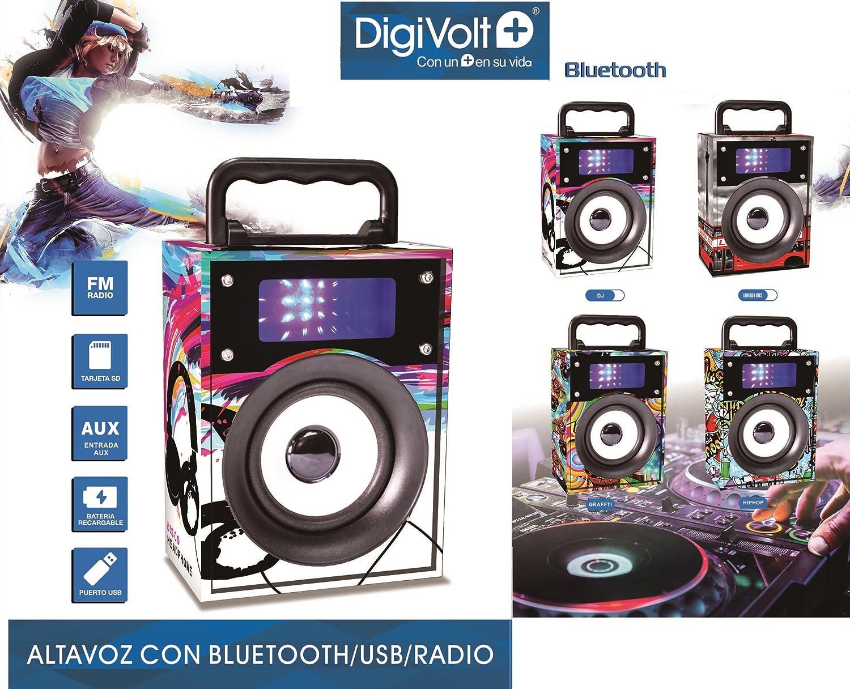 Altavoz recargable con radio USB/SD Bluetooth Digivolt HIFI ...