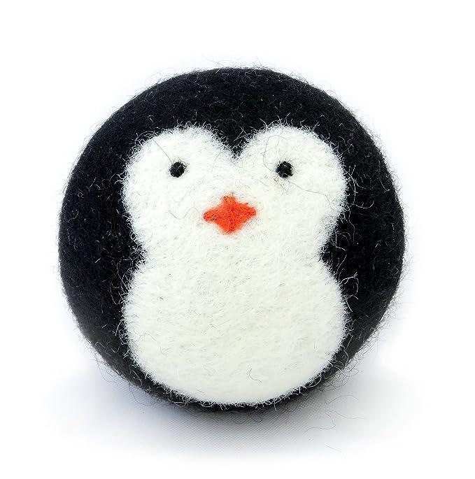 keine Fusseln Bio-/Öko-wolle Trockner Kugeln Premium-Qualit/ätCool Friends Fair Trade 6er Pack 100/% handgemacht Bio schwarz Pinguin