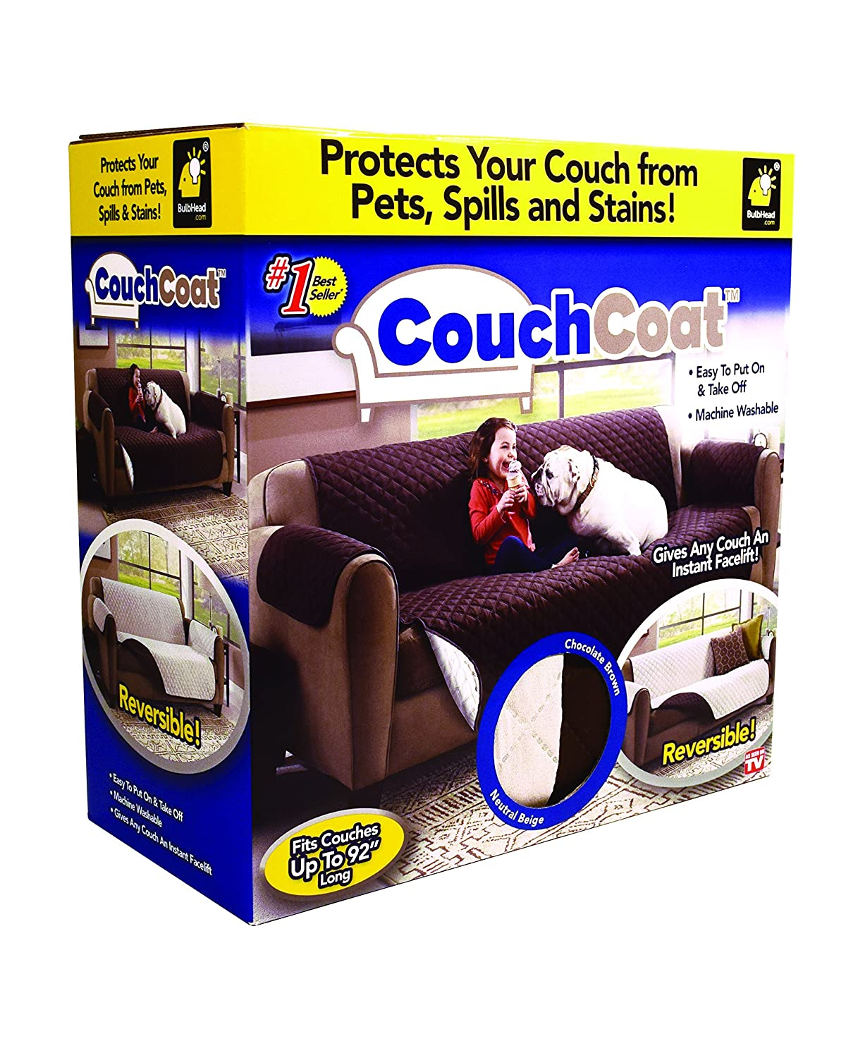 Enjoyable Couch Coat Reversible Microfiber Couch Cover By Bulbhead The Easy Furniture Protector From Pets Dogs And Kids Gmtry Best Dining Table And Chair Ideas Images Gmtryco