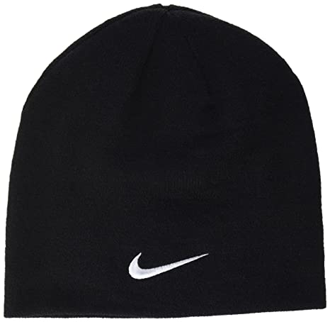 0736d768 Nike Men's Team Performance Beanie, Obsidian/White, One size: Amazon.co.uk:  Clothing