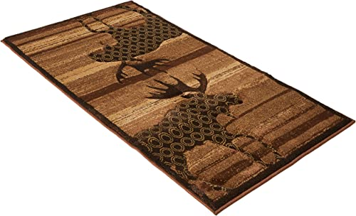 United Weavers of America Designer Contours Collection Urban Lodge Rug, 2-Feet 7-Inch by 4-Feet 2-Inch, Toffee