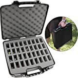 CASEMATIX Hard Shell Miniature Storage Travel Case - 36 Figurine Miniature Organizer and Miniatures Carrying Case with…